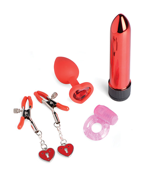 Frisky Passion Heart Gift Set - Red - Casual Toys