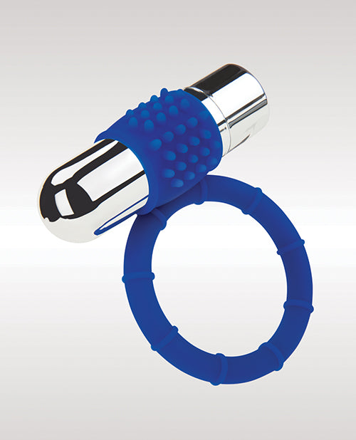 Zolo Powered Bullet Cock Ring - Blue - Casual Toys
