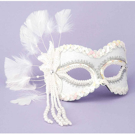 Fantasy Half Mask-White - Casual Toys