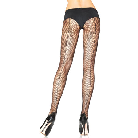 Fishnet w-Backseam Pantyhose O-S Black - Casual Toys
