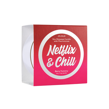 Netflix & Chill Massage Candle Netflix & Chill Berry Yummy 4 oz-113 g - Casual Toys