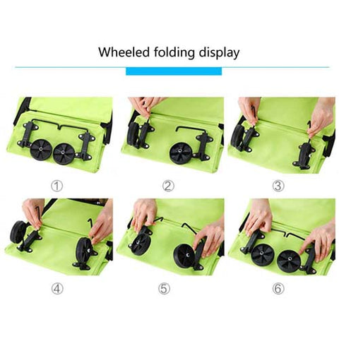 Collapsible Trolley Bags Folding Shopping Cart Bag