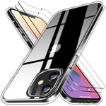iPhone 12 Clear Case& Screen Protectors(2 packs)