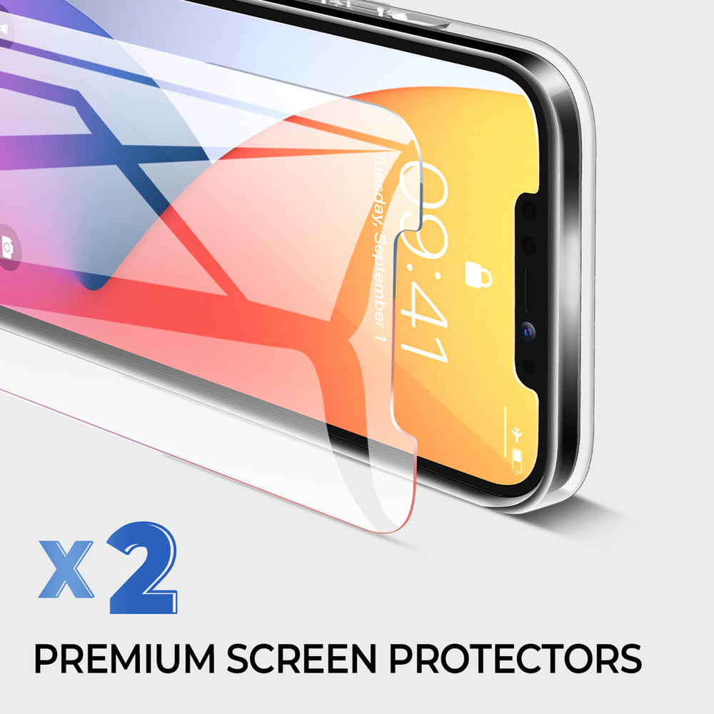 iPhone 12 Pro Clear Case&Screen Protectors(2 packs)