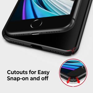 RANVOO iPhone SE 2020 Slim Fit Matt Case with 2 Screen Protectors