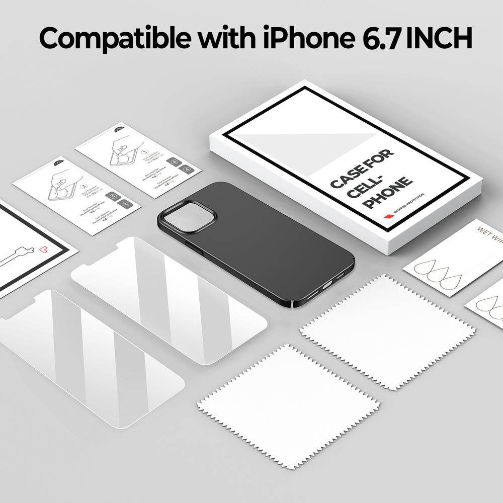 iPhone 12 Pro Matte Case&Screen Protectors(2 packs)