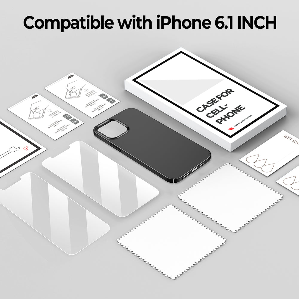 iPhone 12 mini Matte Case&Screen Protectors(2 packs)