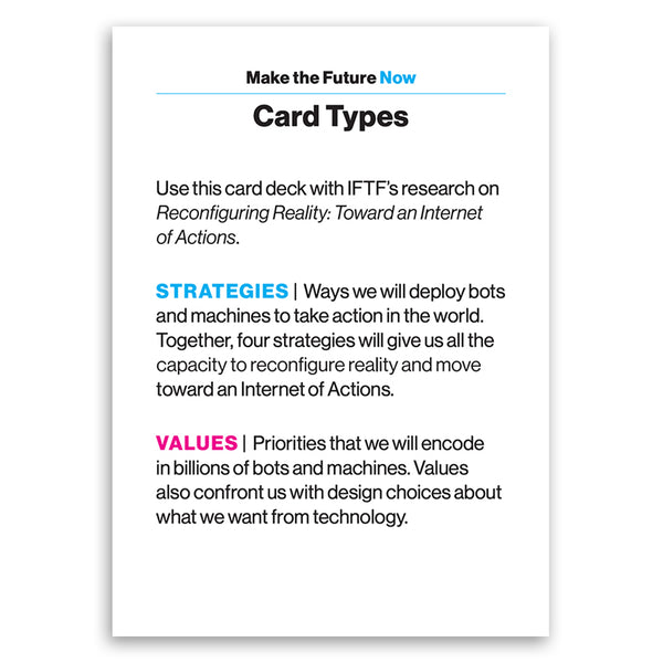 Make the Future Now : Card Game