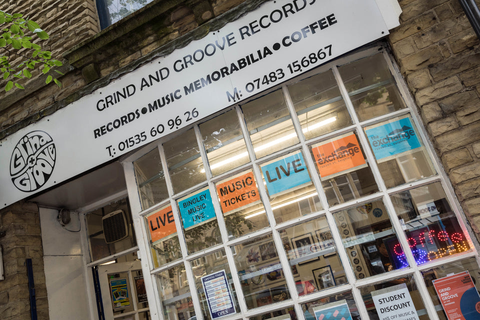 Physical record shop selling vinyl in Keighley