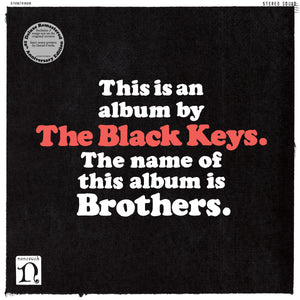 THE BLACK KEYS: BROTHERS REMASTERED ANNIVERSARY EDITION 2LP VINYL RECORD (01/01/21)