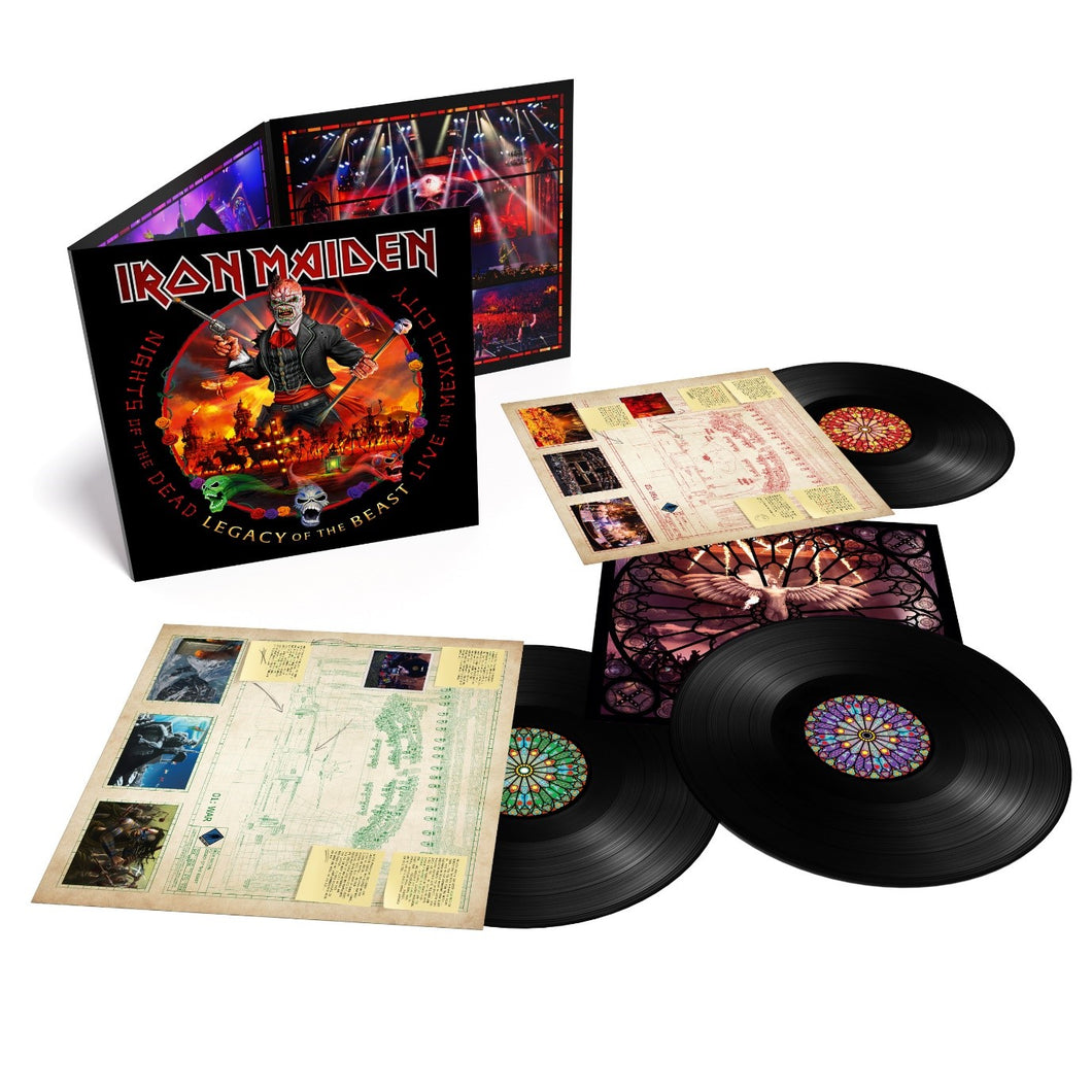IRON MAIDEN: NIGHTS OF THE DEAD –  LEGACY OF THE BEAST : LIVE IN MEXICO CITY - 3LP