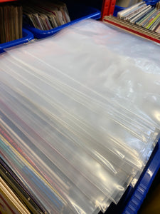 "12"" POLY OUTER SLEEVE - CLEAR 450 gauge"