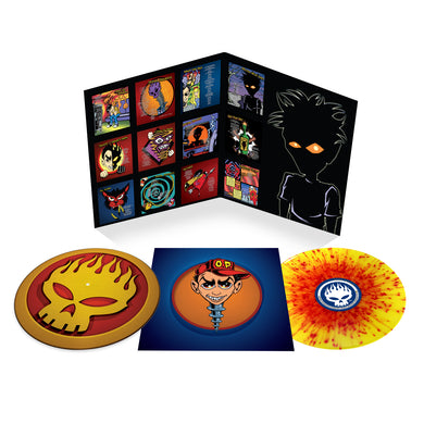 THE OFFSPRING: CONSPIRACY OF ONE DELUXE RED/YELLOW 1LP & SLIPMAT VINYL RECORD