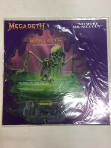"MEGADEATH 12"" SHAPED PIC DISC ; ""NO MORE MR NICE GUY"""