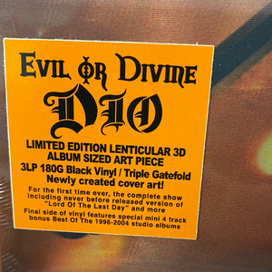 DIO: EVIL OR DIVINE 3LP VINYL LENTICULAR COVER VERY LIMITED (12.02.21)