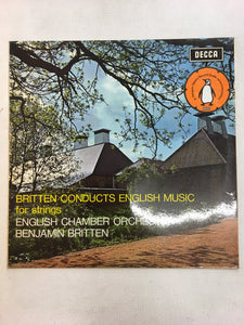 BENJAMIN BRITTEN LP ; CONDUCTS ENGLISH MUSIC