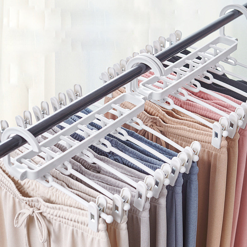 Folding Multi Function Layer Pants Holder Household Clip Wardrobe Storage