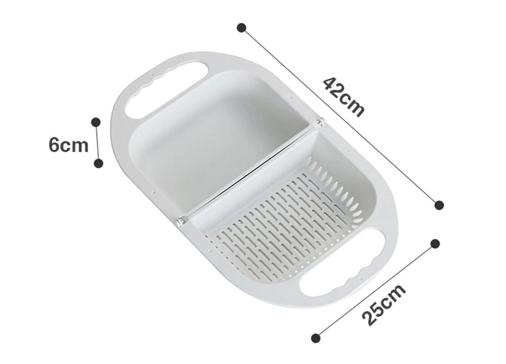 Folding Drain Basket Multifunctional Washing Colander