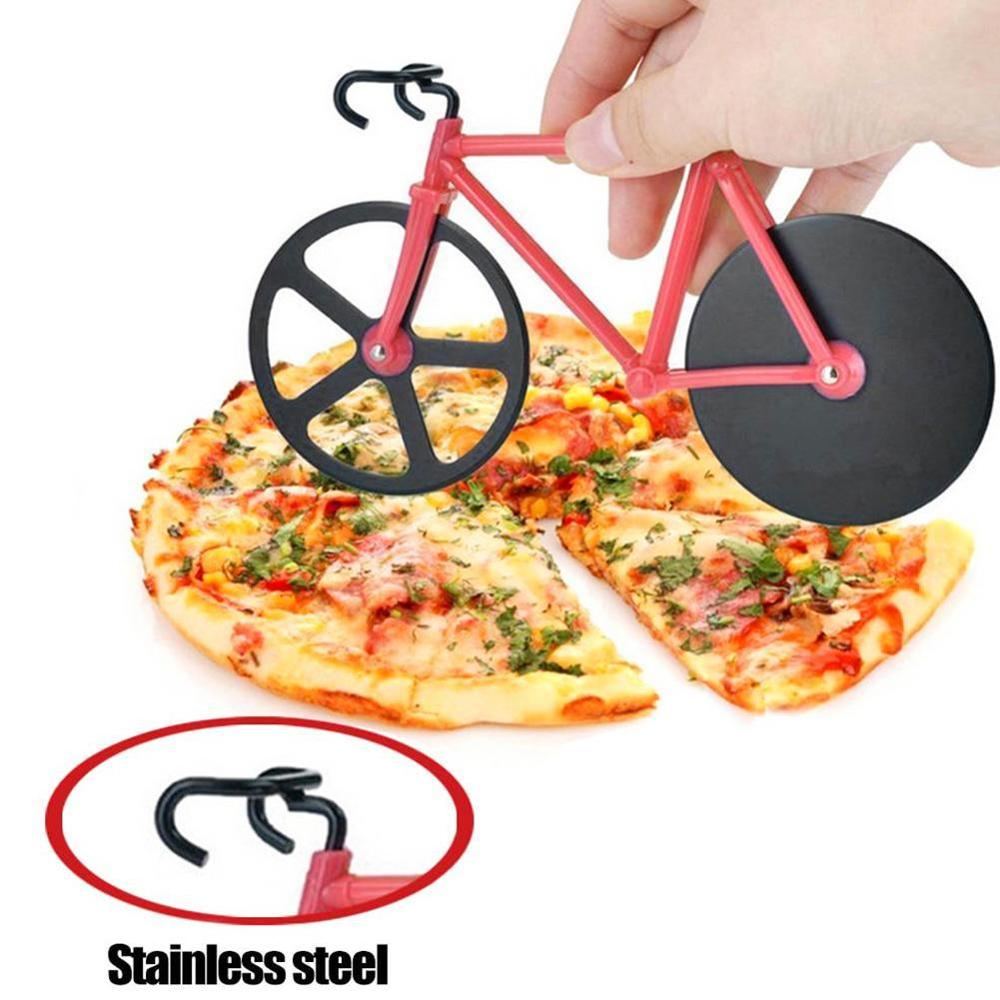 1PC Bike Round Pizza Cutter Knives Stainless Steel Pizza Knife