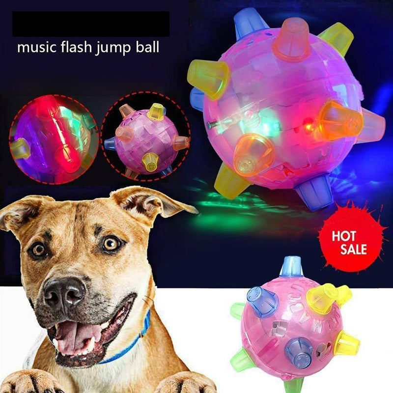 Jumping Activation Ball LED Light Up Music Flashing Bouncing Ball Toys