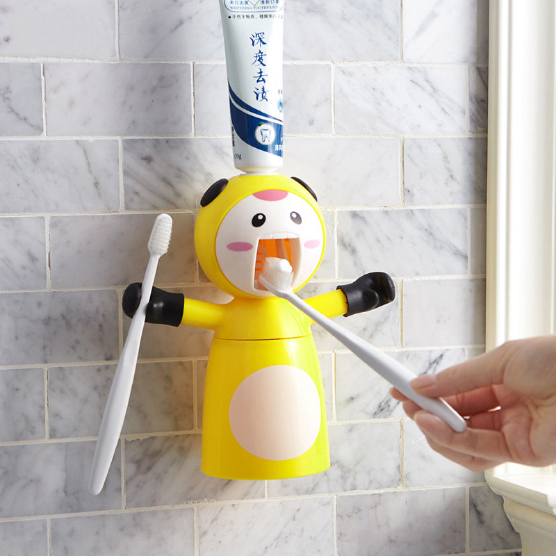 Cute baby toothpaste squeezer mouthwash cup