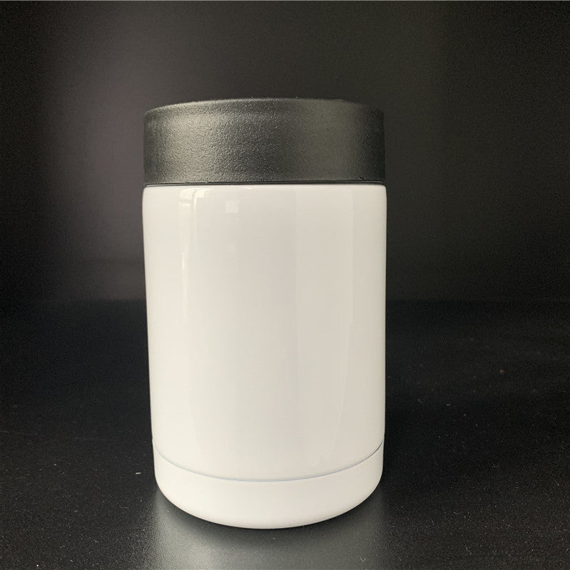 White stainless steel vacuum refrigerating cup