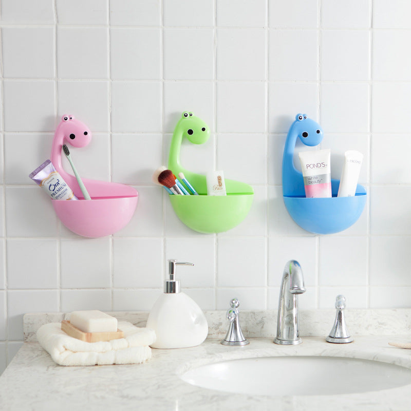 Dinosaur powerful suction cup wall mounted toothbrush