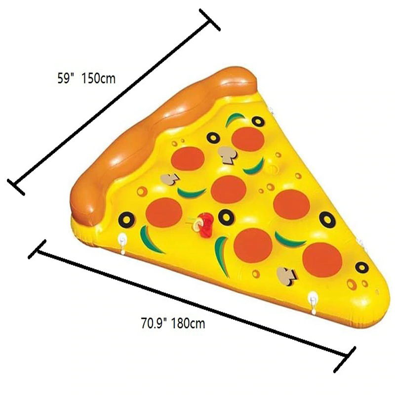 Giant 180cm Inflatable Pizza Slice Pool Float Swimming Water Toy