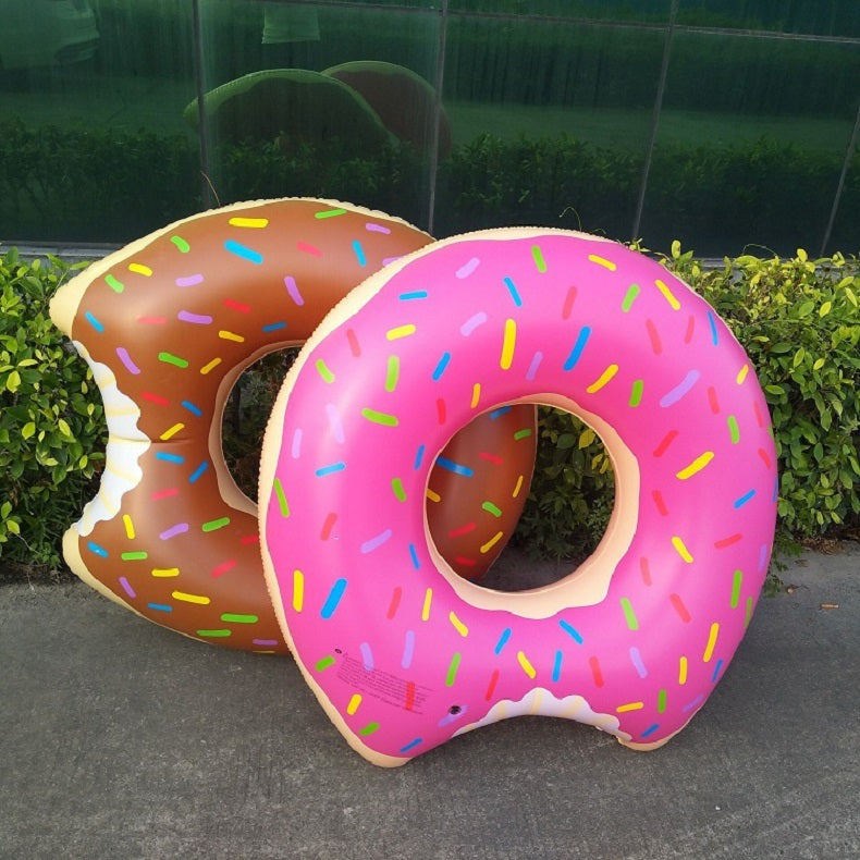 Inflatable Donut Swimming Ring for Pool Float  Summer Ring Seat Toys