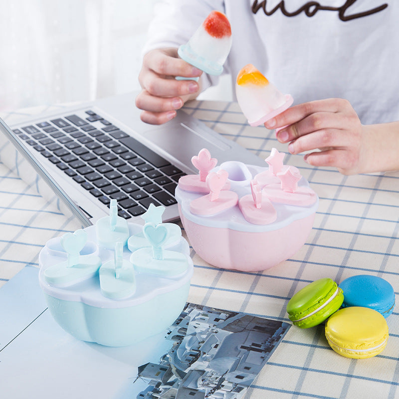 Cartoon Ice Cream Plastic Ice Tray