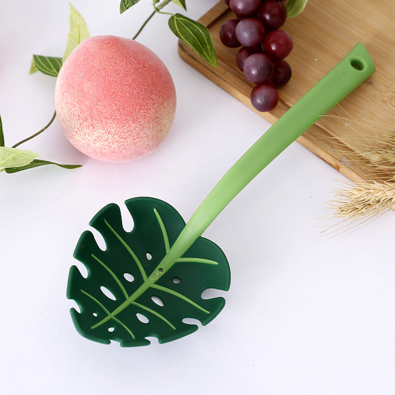 Creative Noodles Fork Kitchen Tools Leaf Style Non-toxic  Drain Scoop