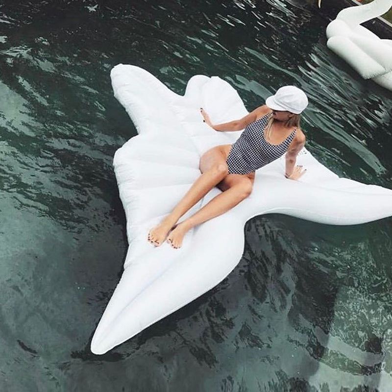 250cm Angel Wings Pool Float Bed Inflatable Mattress Swimming Ring