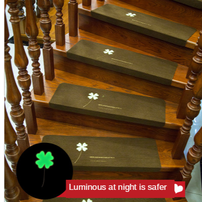 2PCS Creative Luminous Staircase Floor Mats Stair Floor Carpets