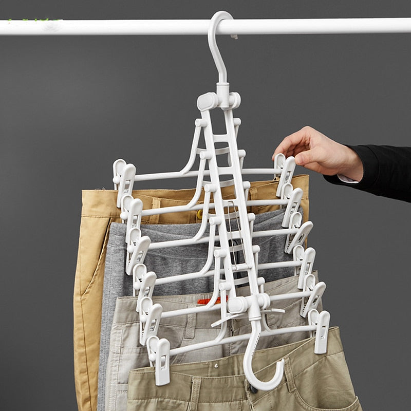 Home Clothes Hanger Simple Dual-use Wind-proof Drying Rack
