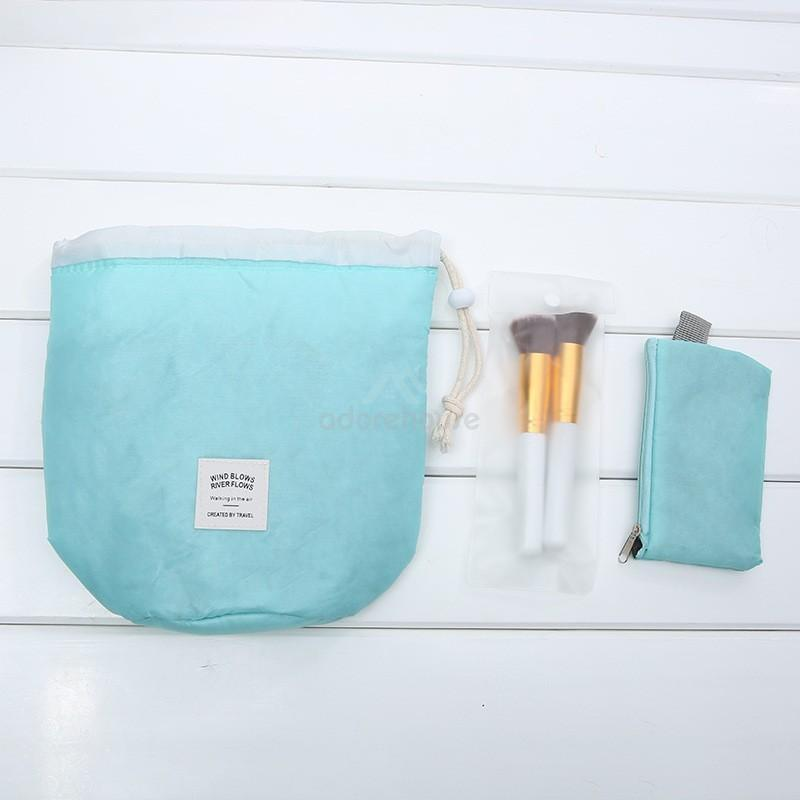 Multi-functional Cylinder Shaped Cosmetic Bag-Cosmetic & Wash Bags-Adorehouse.com