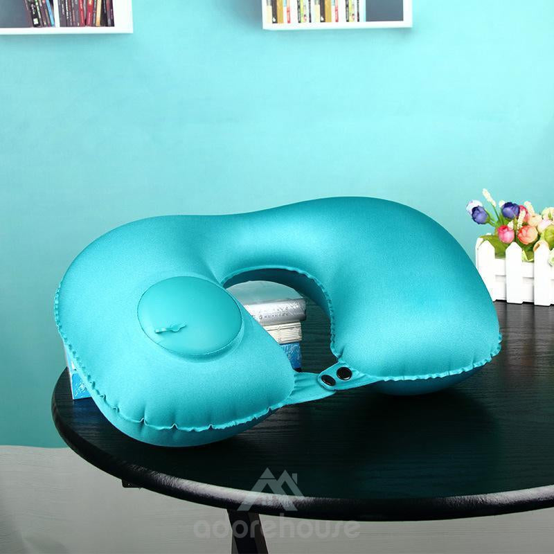 Inflatable Travel Pillow Press Type Inflatable U-Shaped Pillow Portable Inflatable Neck-Decorative Pillows-Adorehouse.com