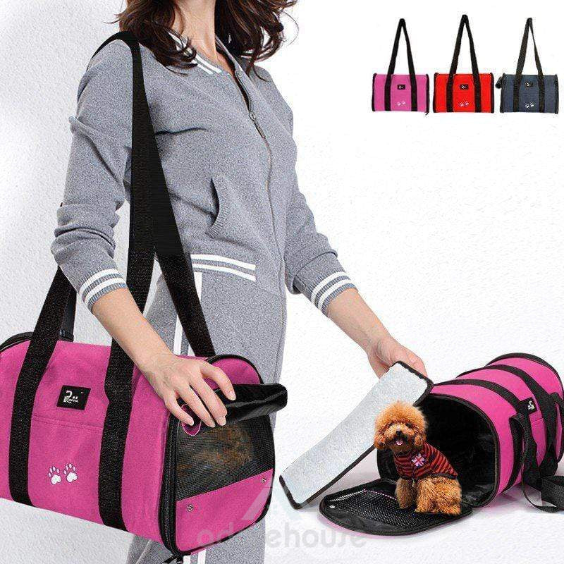 Portable Travel Carrier Tote Cage Pet Box Holder-Dogs-Adorehouse.com