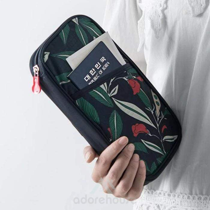 Multifunction Travel Passport Hand Bag Wallet Phone Purse Holder Wallet Travel Purse-Digital Case & Bags-Adorehouse.com