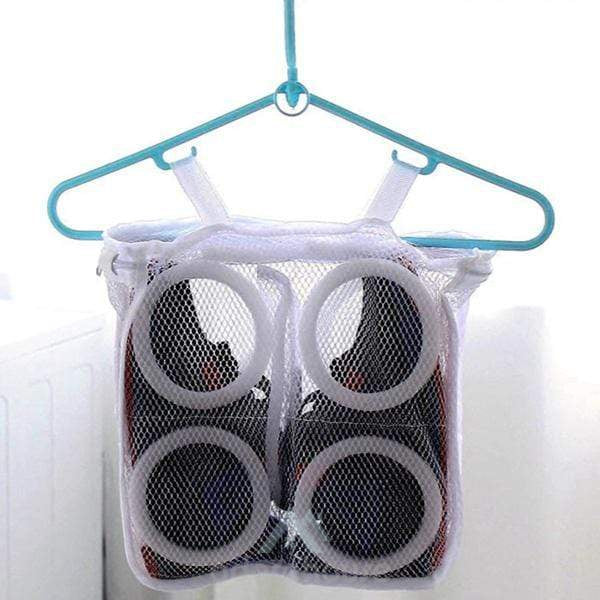 Useful Laundry Shoes Bag Organizer Durable Mesh Bag Dry Shoe Organizer-Shoes Storage-Adorehouse.com