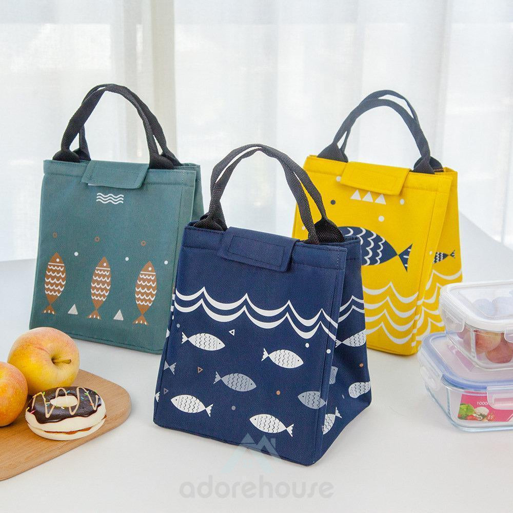 Waterproof Lunch Tote Bag Oxford Cooler Insulated Handbag Cute Storage Containers Food Container-Lunch Bag-Adorehouse.com