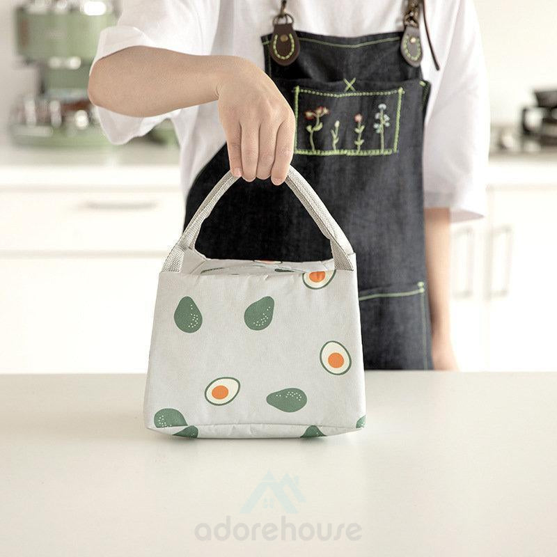 Fruit Print Insulated Cooler Lunch Bag-Lunch Bag-Adorehouse.com