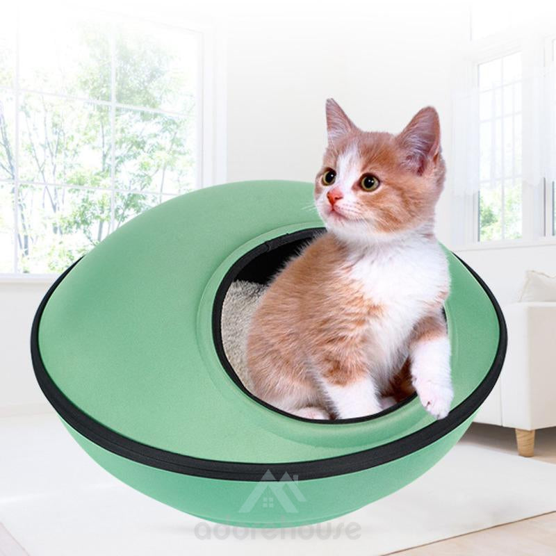 UFO Shape Warm Pet Nest House with Zipper-Cats-Adorehouse.com