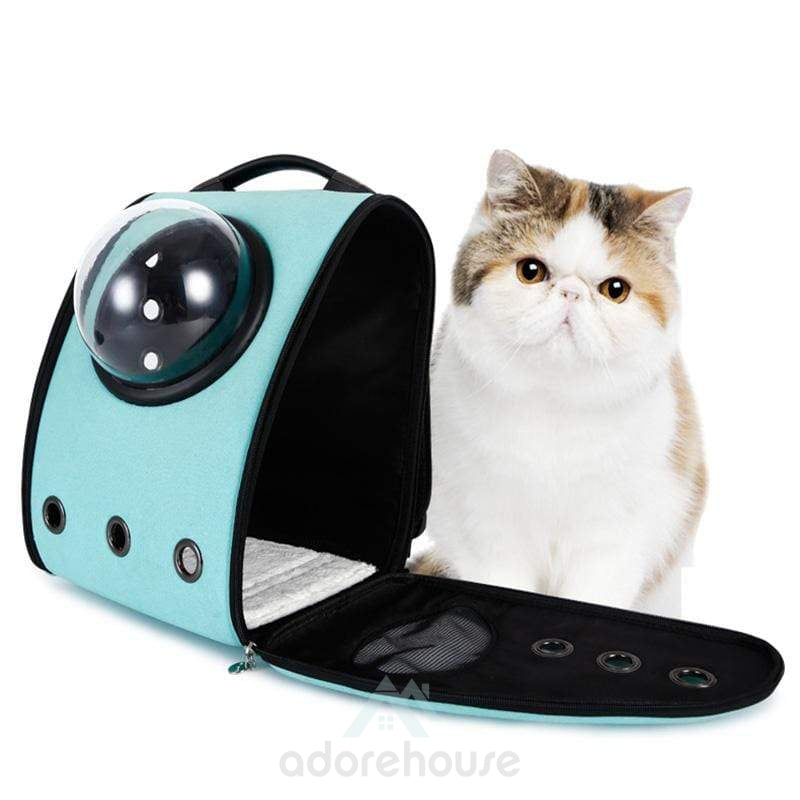 Cute Portable Pet Carrier Backpack with Front Dome-Cats-Adorehouse.com