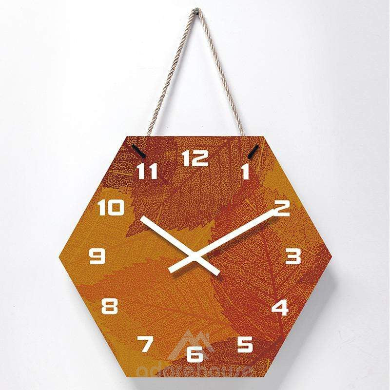 Nordic Wall Clock Creative Abstract Hexagonal Art Wall Clock Home Office Decoration-Clocks-Adorehouse.com