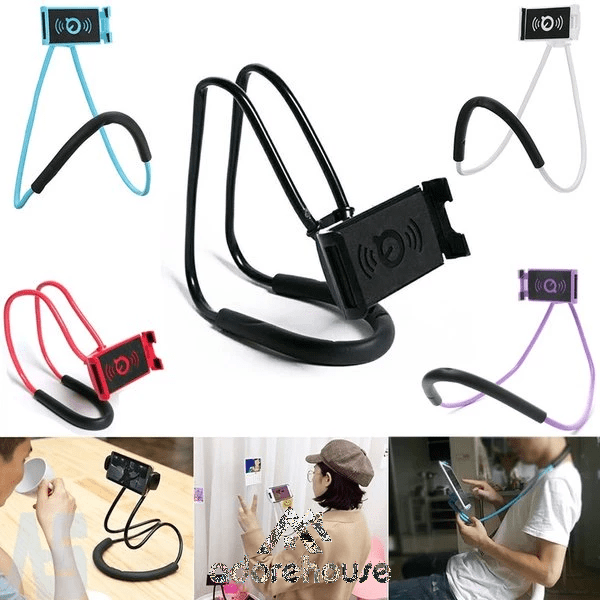 Gooseneck Lazy Neck Phone Mount to Free Your Hands for iPhone Android Smartphone-Digital Case & Bags-Adorehouse.com