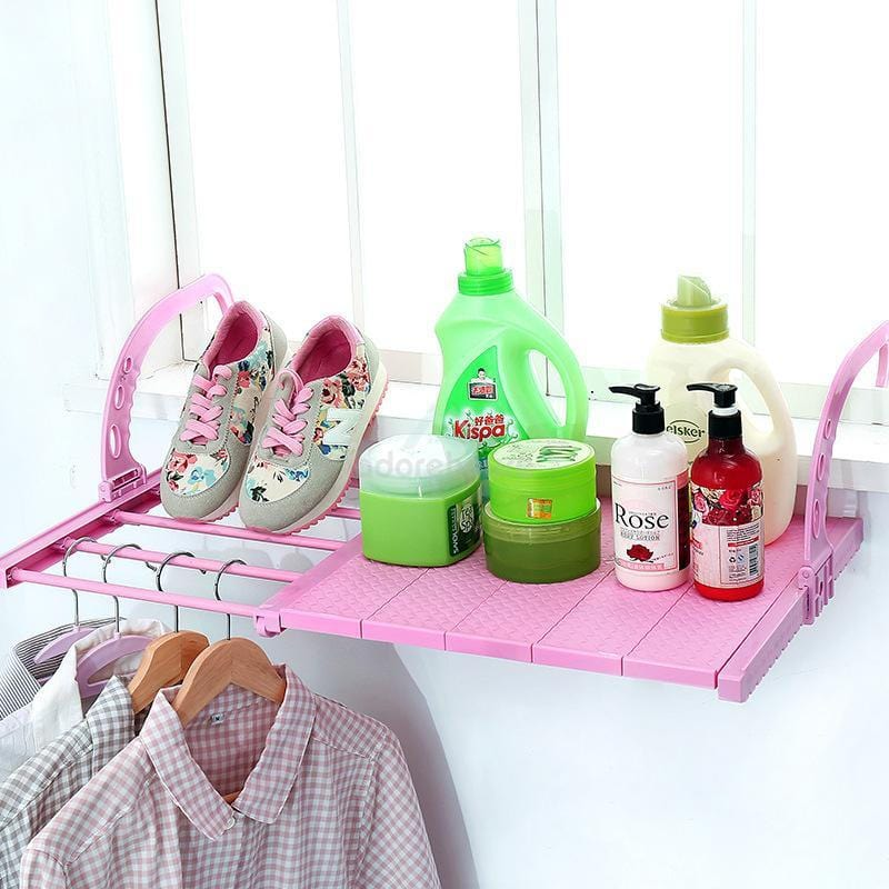 Multi-Function Telescopic Balcony Drying Shoe Rack-Clothes & Quilts Storage-Adorehouse.com