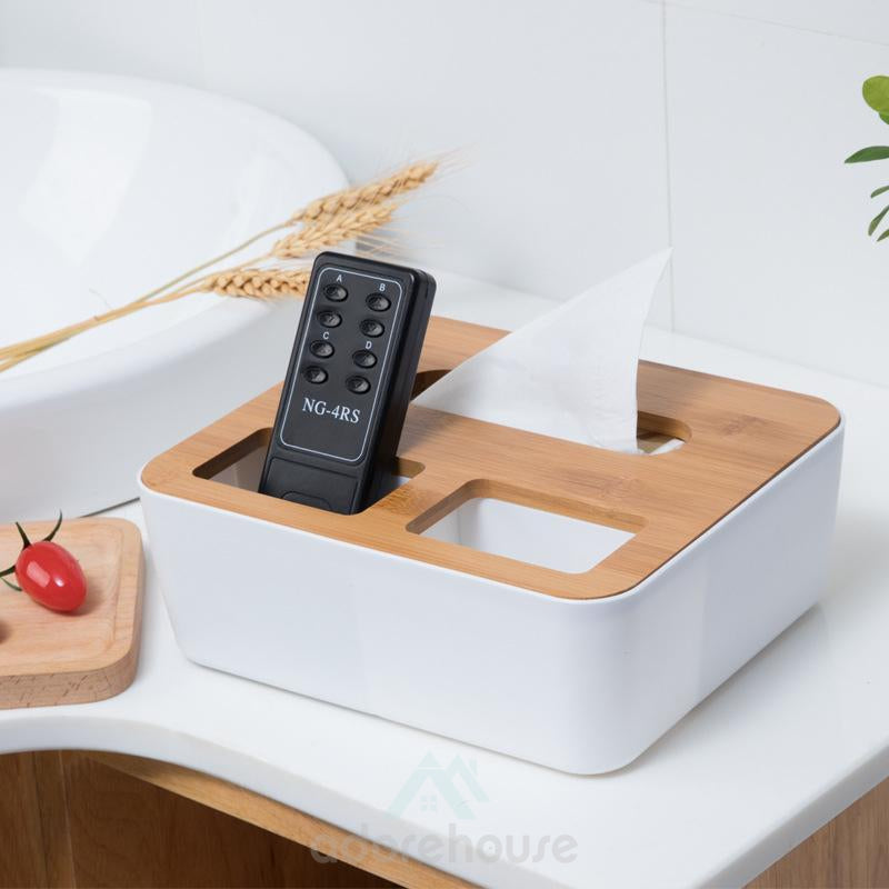 Multi-function Creative Storage Tissue Box For Living Room Wooden Napkin Box-Household Storage-Adorehouse.com