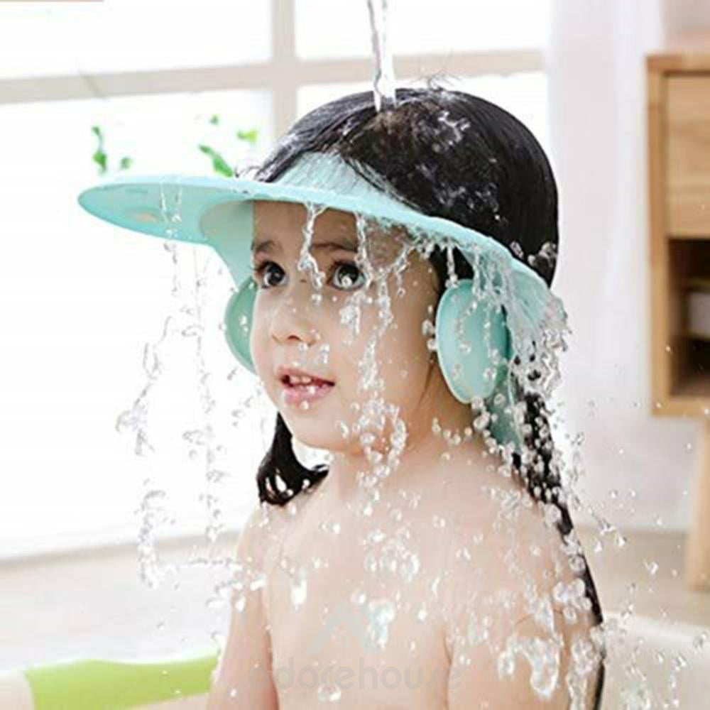 Adjustable Shield Baby Shower Shampoo Cap-Toilet Accessories-Adorehouse.com