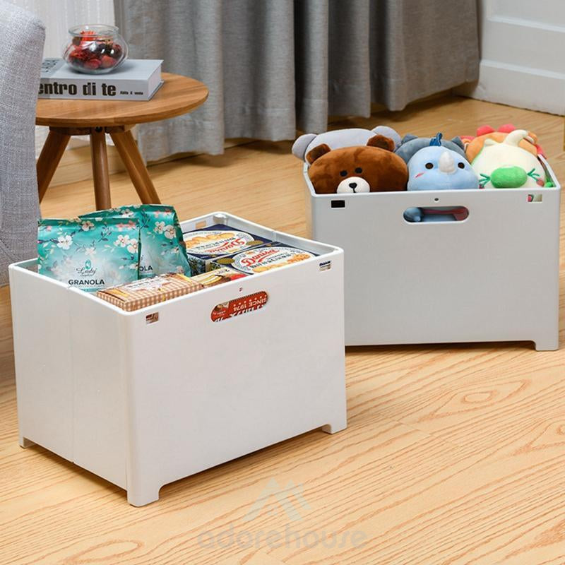 Wall-Mounted Folding Laundry Basket with Handle-Bathroom Storage-Adorehouse.com
