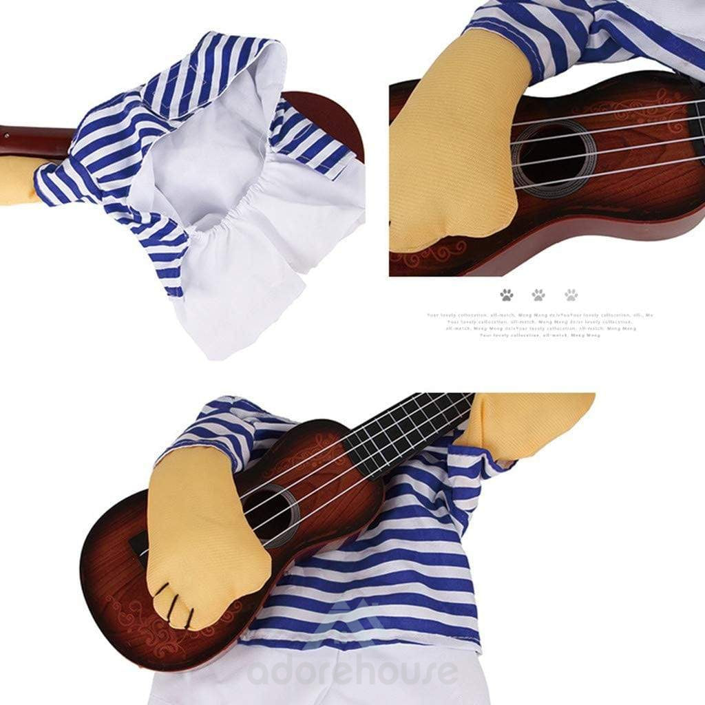 Pet Guitar Costume for Halloween Party-Halloween-Adorehouse.com